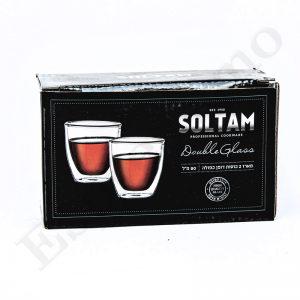 """זוג כוסות Soltam דופן כפולה 80 מ""""ל"""