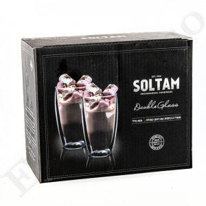 """זוג כוסות Soltam דופן כפולה 450 מ""""ל"""