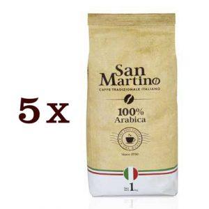 """5 ק""""ג פולי קפה SAN MARTINO- ערביקה 100%"""
