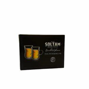 """זוג כוסות Soltam עם ידית דופן כפולה 150 מ""""ל"""