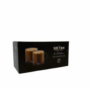 """זוג כוסות Soltam עם ידית דופן כפולה 290 מ""""ל"""