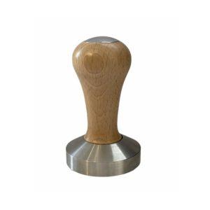 """דוחסן טמפר 58 מ""""מ ידית עץ בהיר"""