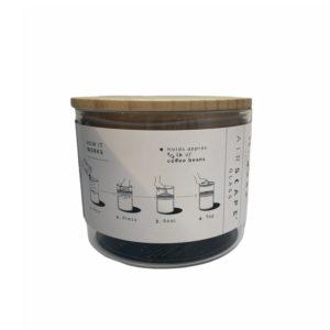 קופסת אחסון זכוכית לקפה AIRSCAPE נפח 250 גרם
