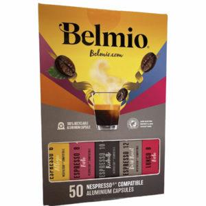 מארז 50 קפסולות BELMIO תואם נספרסו