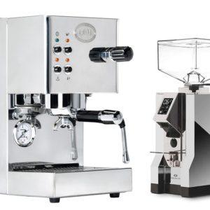 מכונת קפה ECM CASA V + מטחנת קפה EUREKA MIGNON SPECIALITA CHROME